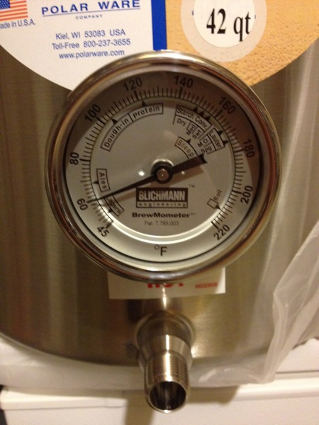 Polarware brew kettle with brewmometer